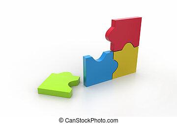 Broken piece in puzzle