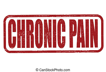 Chronic pain - Stamp with text chronic pain inside, vector...