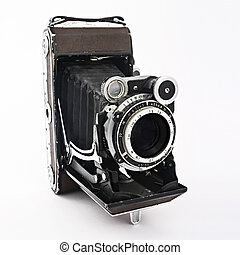 Old film Photo camera - Vintage photographic film camera....