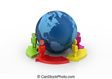 Global networking concept