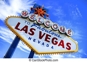 Welcome To Las Vegas Sign - Colorful picture of the Welcome...