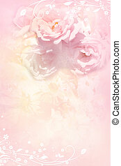 Beautiful, soft roses, romantic background