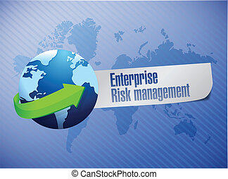 enterprise risk management globe sign illustration design...