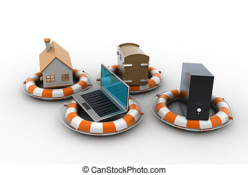Smart home with life preserver