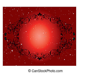 festive background - Abstract vector festive background in...