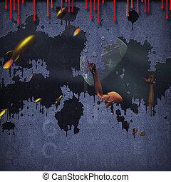 Sci Fi Pulp Art with Text Pop Art Mix