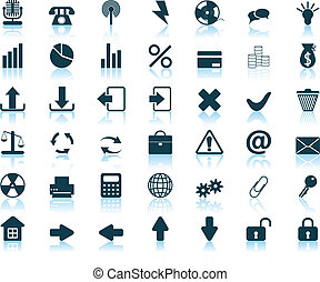 icons set - New collection of different icons for using in...