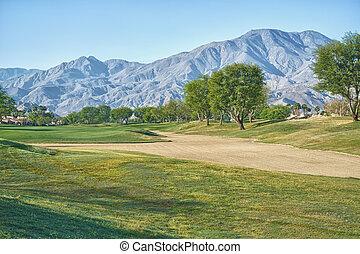 Sand Trap and Fairway at PGA West La Quinta California. This...