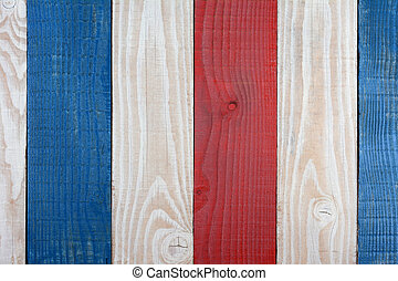 Red White and Blue Boards Background. Patriotic Background...
