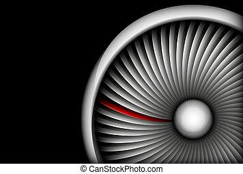turbine - aviation-turbine abstract vector illustration...
