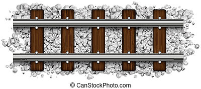 rails abstract vector illustration isolated on background...