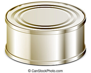 Canned abstract vector illustration isolated eps 10