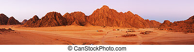 Red rocks on Sinai near Moses Mountain.