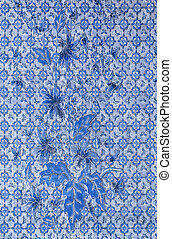 Blue fabric pattern - Blue flowers and laef on fabric...