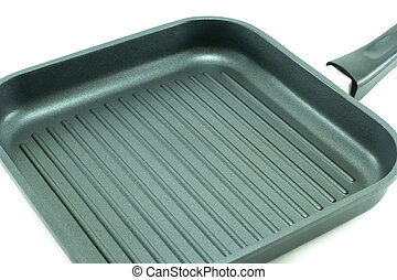 Non-Stick grill pan ,close up - Non-Stick grill pan ,black