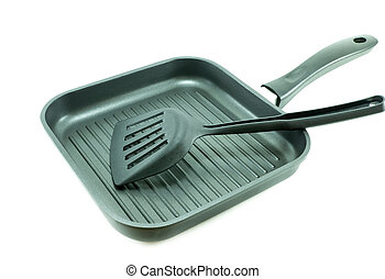 Non-Stick grill pan with Spatula - Non-Stick grill pan...