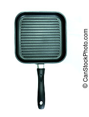 Non-Stick grill pan isolated on white background