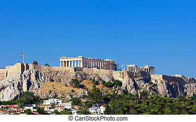 Parthenon temple on Athenian Acropolis, Athens, Greece.