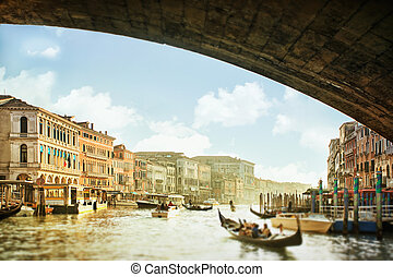 Panoramic view of Canal Grande in Venice, Italy - View from...