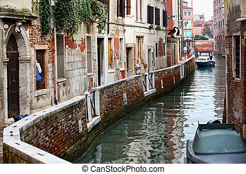 Deatil old architecture in Venice