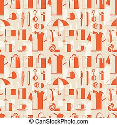 Seamless pattern with promotional gifts and souvenirs