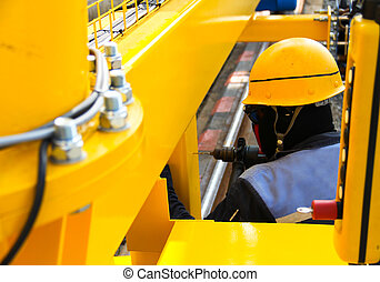 worker drilling - Atmosphere in the construction and...