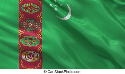 Flag of Turkmenistan seamless loop - Flag of Turkmenistan...