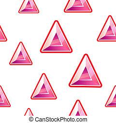 Triangle diamond background