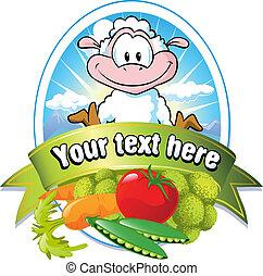 vegetable label