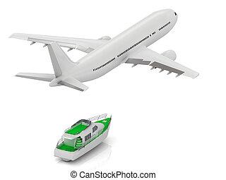 White passenger airliner