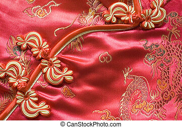 Chinese Red knot buttons - Traditional Chinese Red knot...
