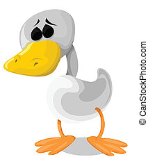 Sad Cartoon Duck