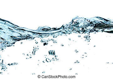 Water waves and splashes - Clear Blue Water Splashing,...