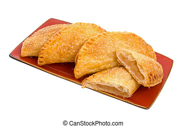 Apple Turnovers - Selection of Apple Turnover Pastries on...