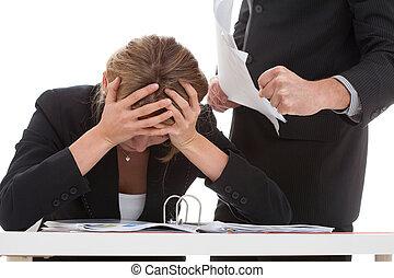 Boss bullying his employee - Cruel boss bullying hard...