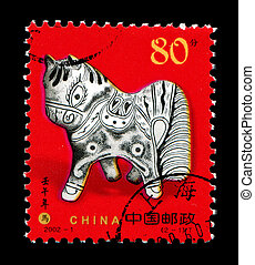 Year of the Horse in postage stamp