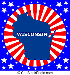 map of the US state of Wisconsin