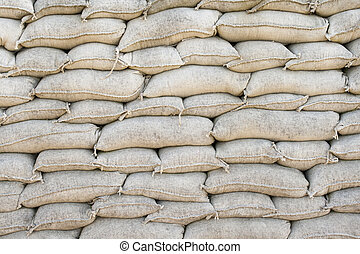 sandbags Trenches of Death in Dixmude flanders Belgium great...