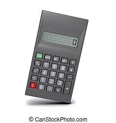 3d Leaning calculator - 3d render of a calculator leaning to...