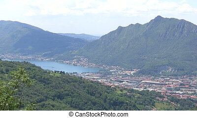 Panoramic view of Como lake