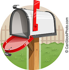 Mail box Eps10 vector illustration Isolated on white...