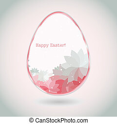Easter egg pink pale greeting card flower petal