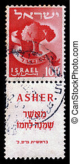 asher, doce, Tribus,  israel
