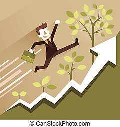 flat design illustration concept of growth - flat design...