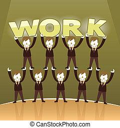 flat design illustration concept of team work