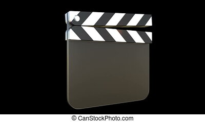 Film clapper - 3D animation of a film clapper with alpha...