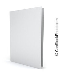 Blank paper folder. 3d illustration on white background