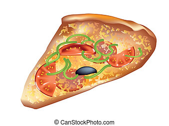 pizza isolated on a white background. 10 EPS