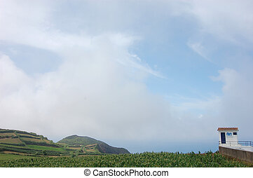 house for whale watching in azores island, Portugal