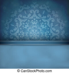 Blue background with ornament